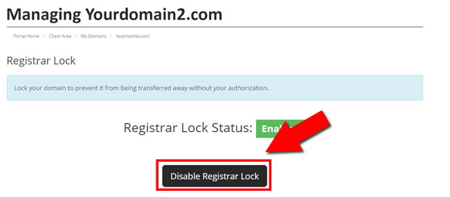 Disable Registrar lock at Smartweb Nigeria