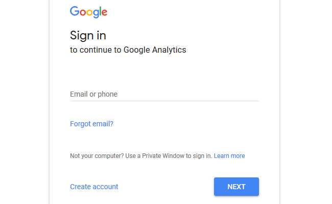 Sign In Google Analytics