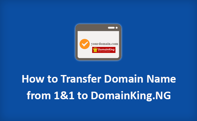 Transfer domain name from 1and1 to DomainKing.NG